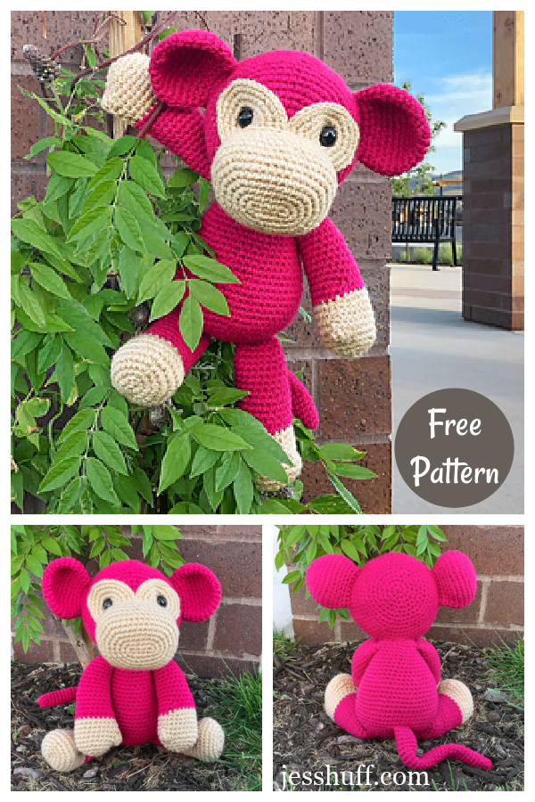 Mimi the Monkey Amigurumi Free Crochet Pattern