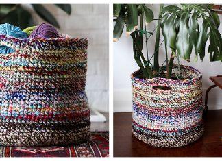 Scrap Yarn Basket Free Crochet Pattern