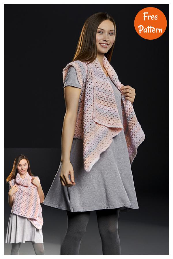 Waterfall Vest Free Crochet Pattern