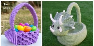 Amazing Easter Basket Crochet Patterns