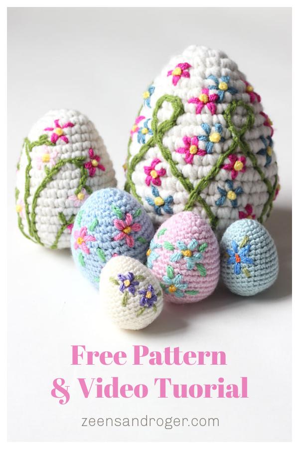 Amigurumi Easter Egg Free Crochet Pattern and Video Tutorial