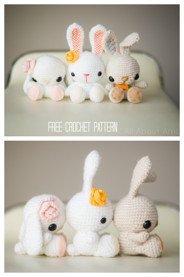 Amigurumi Spring Bunnies Free Crochet Pattern