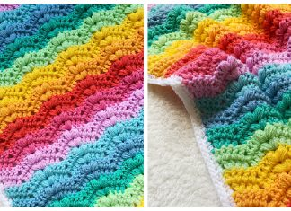 Bobble Ripple Baby Blanket Free Crochet Pattern