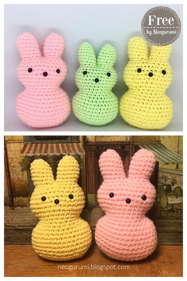 Bunny Easter Peeps Free Crochet Pattern
