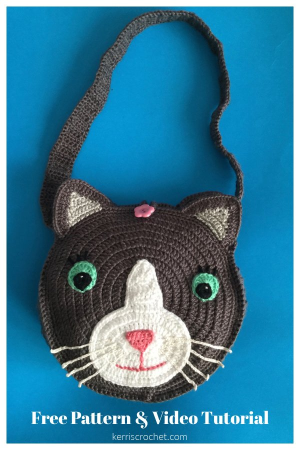 Cat Bag Free Crochet Pattern and Video Tutorial