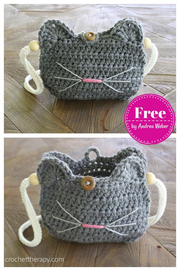 Cat Purse Free Crochet Pattern