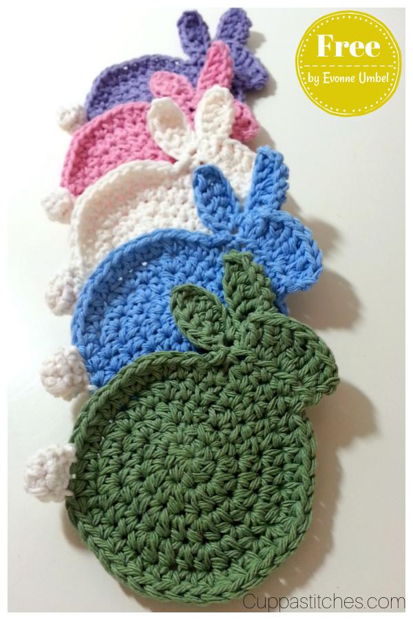 Easter Bunny Coasters Free Crochet Pattern