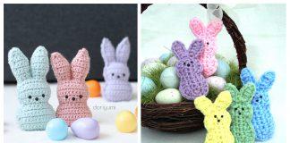 Easter Bunny Peeps Free Crochet Patterns