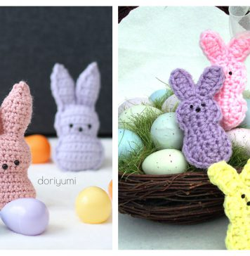 Easter Bunny Peeps Free Crochet Patterns