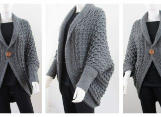 Easy Blanket Cardigan Free Crochet Pattern