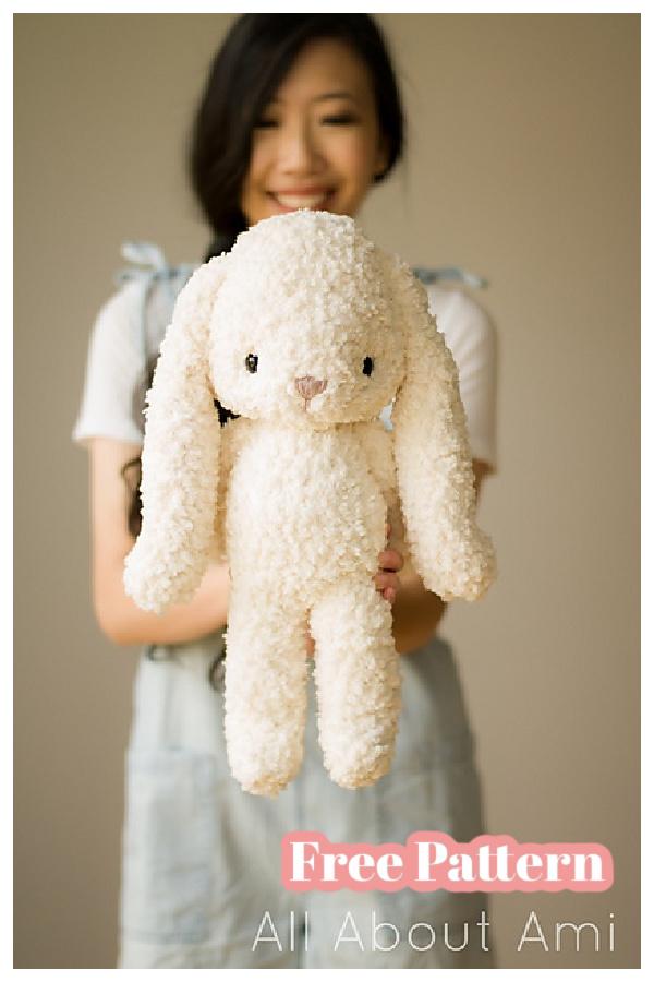 Fleece Teddy and Bunny Amigurumi Free Crochet Pattern