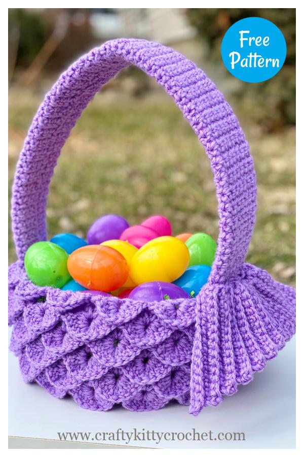 Mermaid Easter Basket Free Crochet Pattern