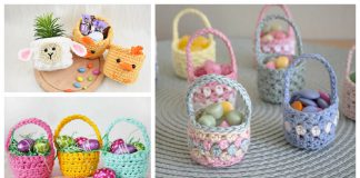 Mini Easter Basket Crochet Patterns