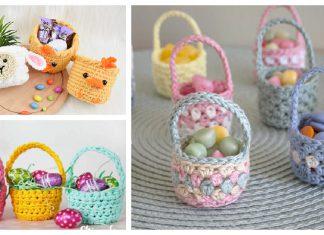 Mini Easter Basket Crochet Patterns