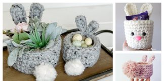 Mini Easter Bunny Basket Crochet Patterns