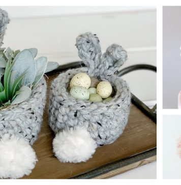 Mini Easter Bunny Basket Crochet Patterns