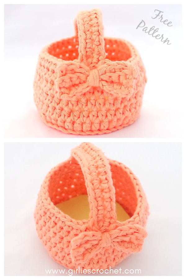 Mini Easter Egg Basket Free Crochet Pattern