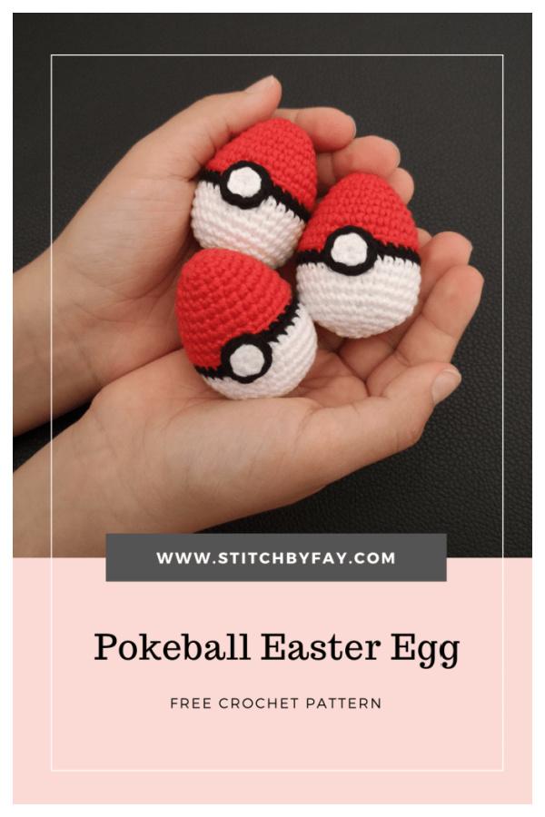 Pokeball Easter Egg Free Crochet Pattern