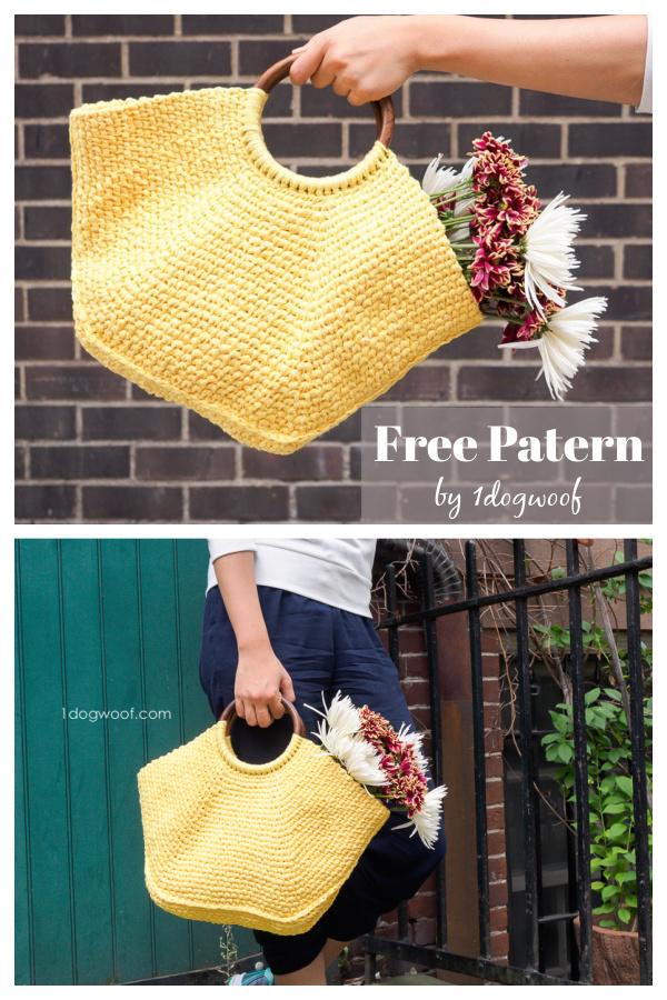 Riviera Tote Bag Free Crochet Pattern