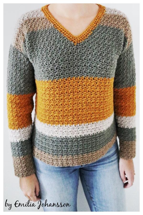SubLime V-Neck Sweater Free Crochet Pattern