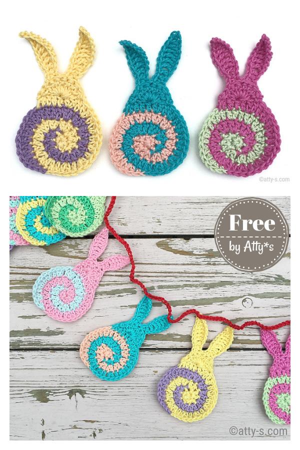 Swirly Easter Bunny Free Crochet Pattern