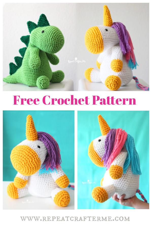 Unicorn Amigurumi Free Crochet Pattern