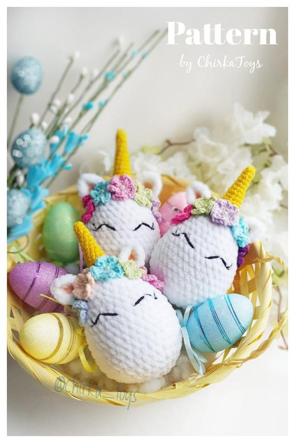 Unicorn Easter Egg Crochet Pattern