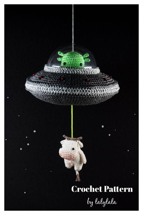 Amigurumi Alien Cow UFO Crochet Pattern