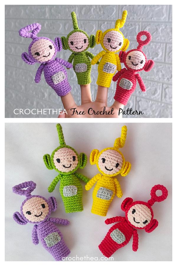 Amigurumi Teletubbies Finger Puppet Free Crochet Pattern