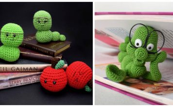 Bookworm Amigurumi Free Crochet Pattern