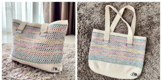 Cotton Candy Tote Bag Free Crochet Pattern