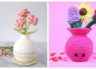 Cute Flower Vase Crochet Patterns