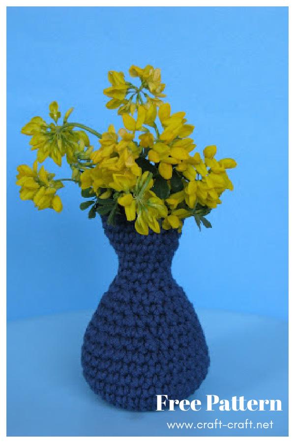Cute Flower Vase Free Crochet Pattern