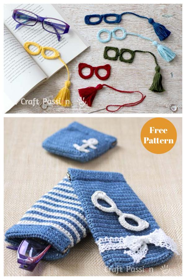 Eyeglasses Applique Free Crochet Pattern