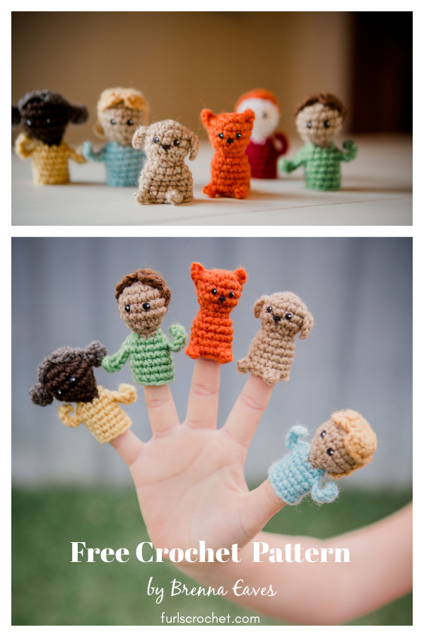 Finger Puppets and Pets Free Crochet Pattern
