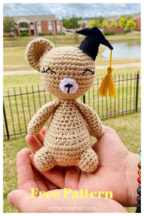 Graduation Celebration Bear Free Crochet Pattern