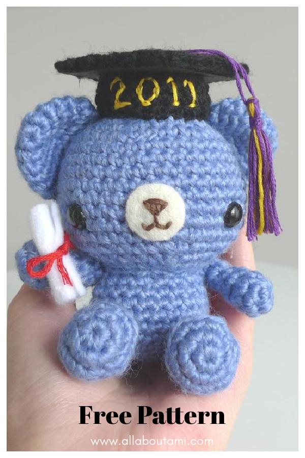 Graduation Teddy Bear Free Crochet Pattern