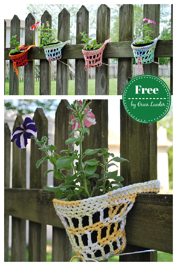 Hanging Pot Holder Free Crochet Pattern
