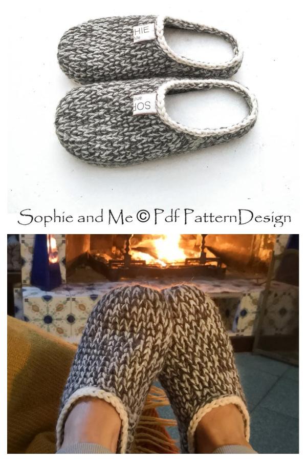Knit Look Slipper Clogs Crochet Pattern