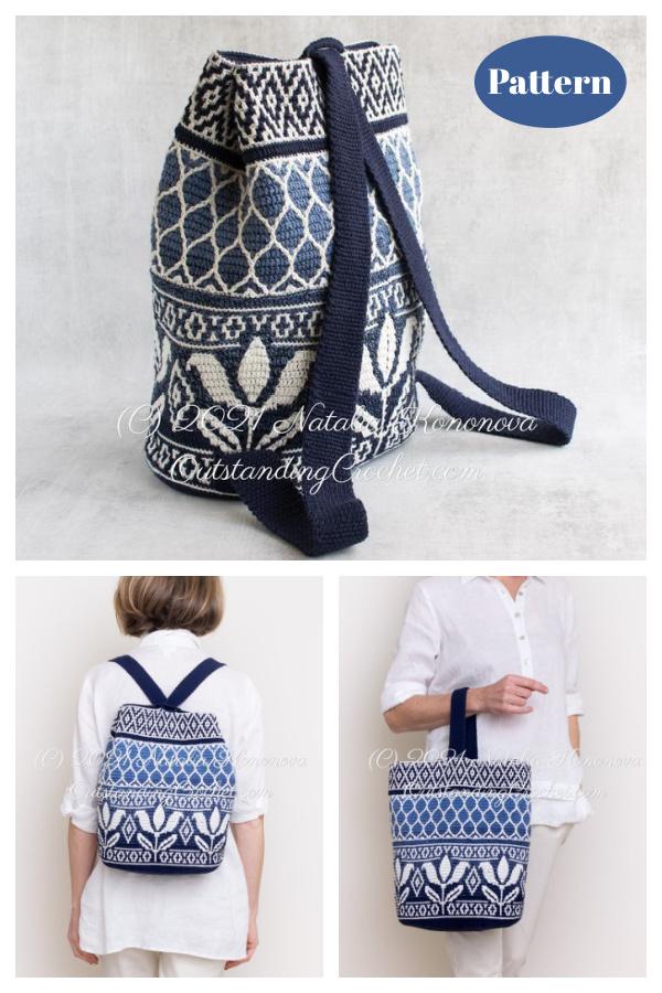 Lili Tapestry Backpack Mosaic Bag Crochet Pattern