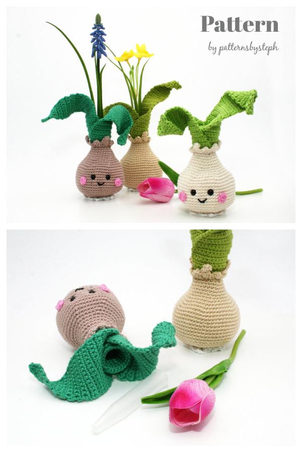 Little Flower Bulb Vase Crochet Pattern