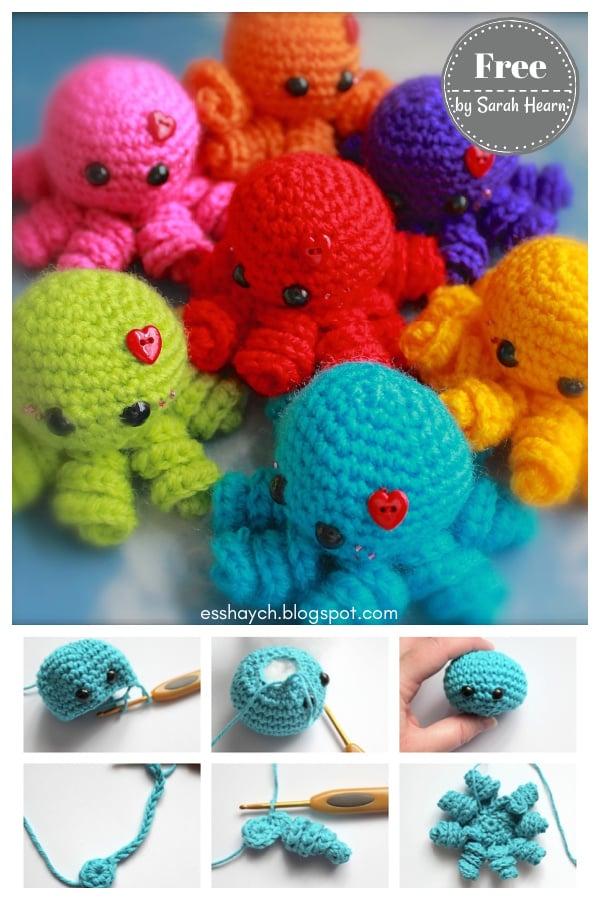 Mini Amigurumi Octopus Free Crochet Pattern