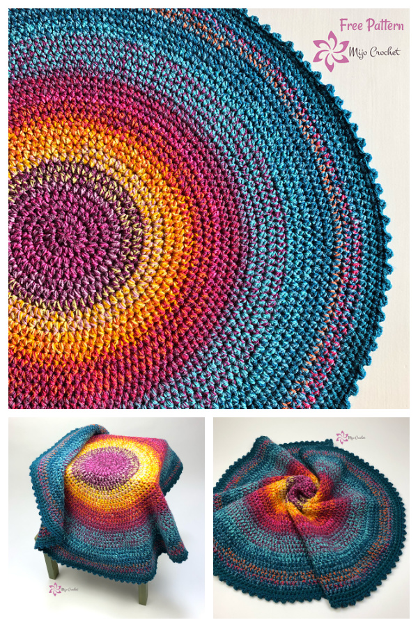 No Wool Left Behind Scrap Rug Free Crochet Pattern