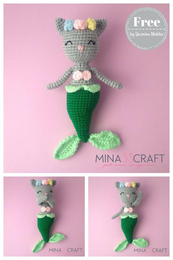Purrmaid Amigurumi Free Crochet Pattern