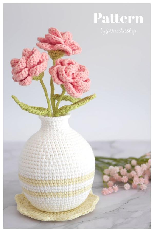 Rose Vase Crochet Pattern