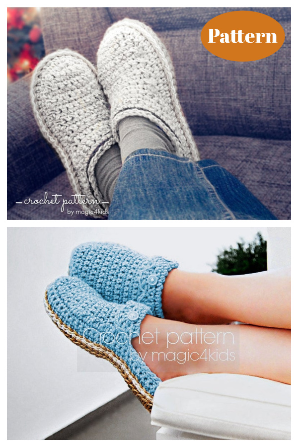 Slipper Clogs Crochet Patterns