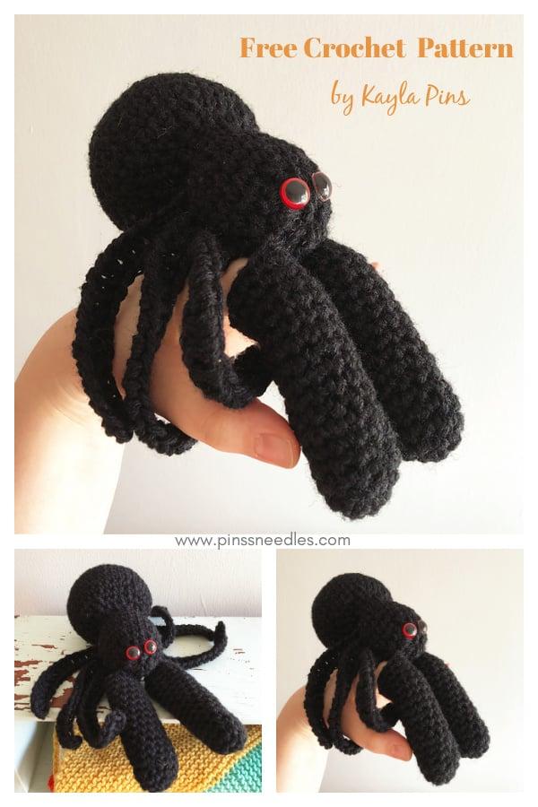 Spider Finger Puppet Free Crochet Pattern