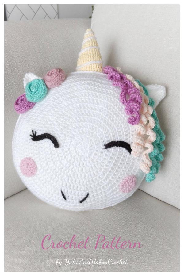 Stuffed Unicorn Pillow Crochet Pattern