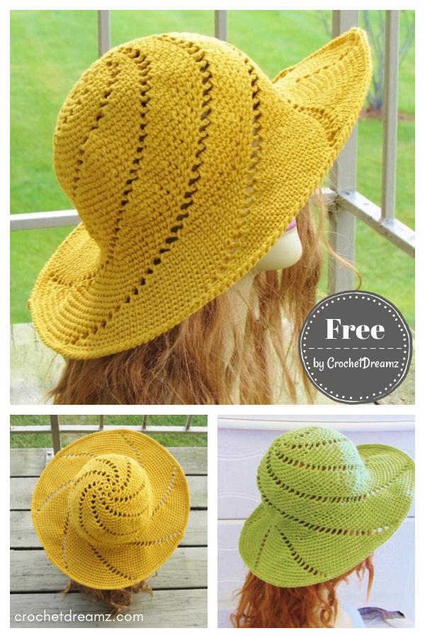 Sunsational Sun Hat Free Crochet Pattern