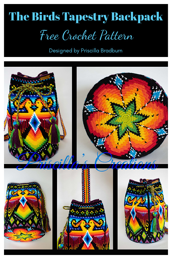 The Birds Tapestry Backpack Free Crochet Pattern